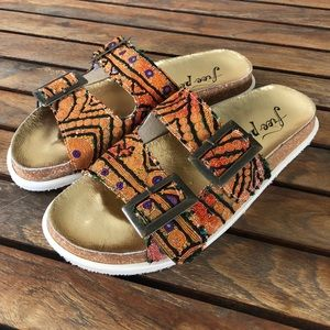 Free People Bali footbed sandals size 38
